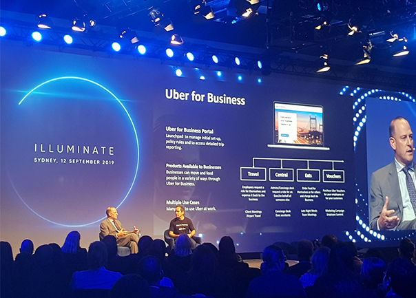 Uber for business being launched on-stage at Illuminate