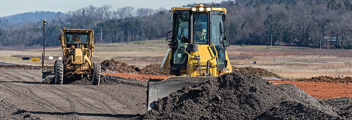 Topcon Machinery moving earth
