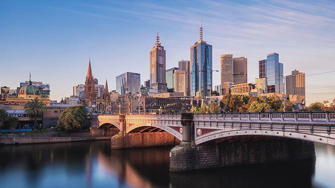 CoT-HW Melbourne City Skyline with Yarra River